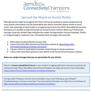 Connectivity Champions Social Posts