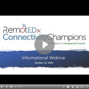 RemotEDx Connectivity Champions Informational Webinar